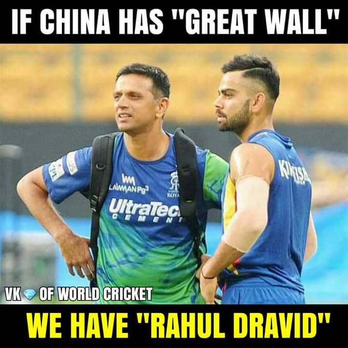 Happy Birthday Rahul Dravid :)  The Wall :)