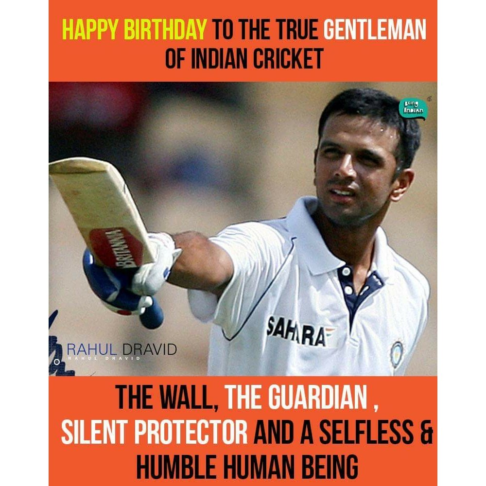 Happy Birthday Rahul Dravid.. Very humble cricketer...