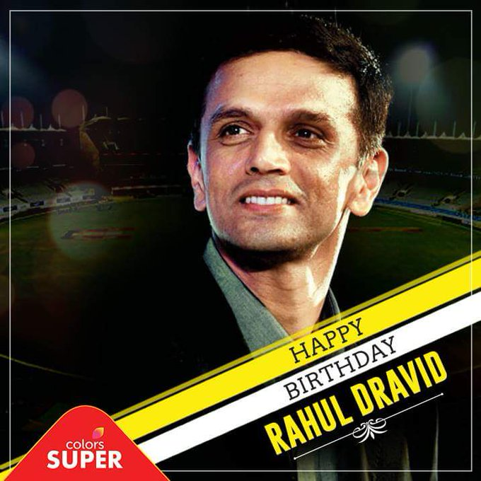 Gentleman cricketer Rahul Dravid avarige Happy Birthday.