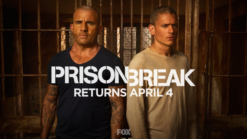 It's time to break out. RETWEET if you're excited for the return of #PrisonBreak on April 4. https://t.co/REr0Dfvjvm