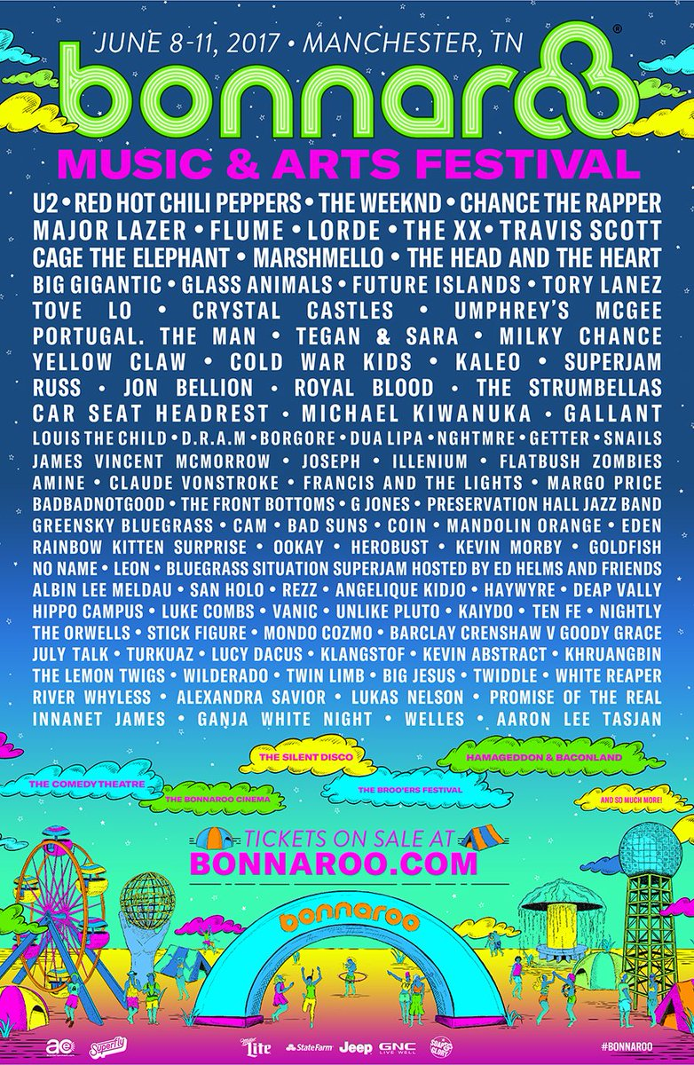The Bonnaroo 2017 lineup is here!  Tickets on sale NOW: https://t.co/tl6mDbjEX1 https://t.co/vRtdaB8Jlr