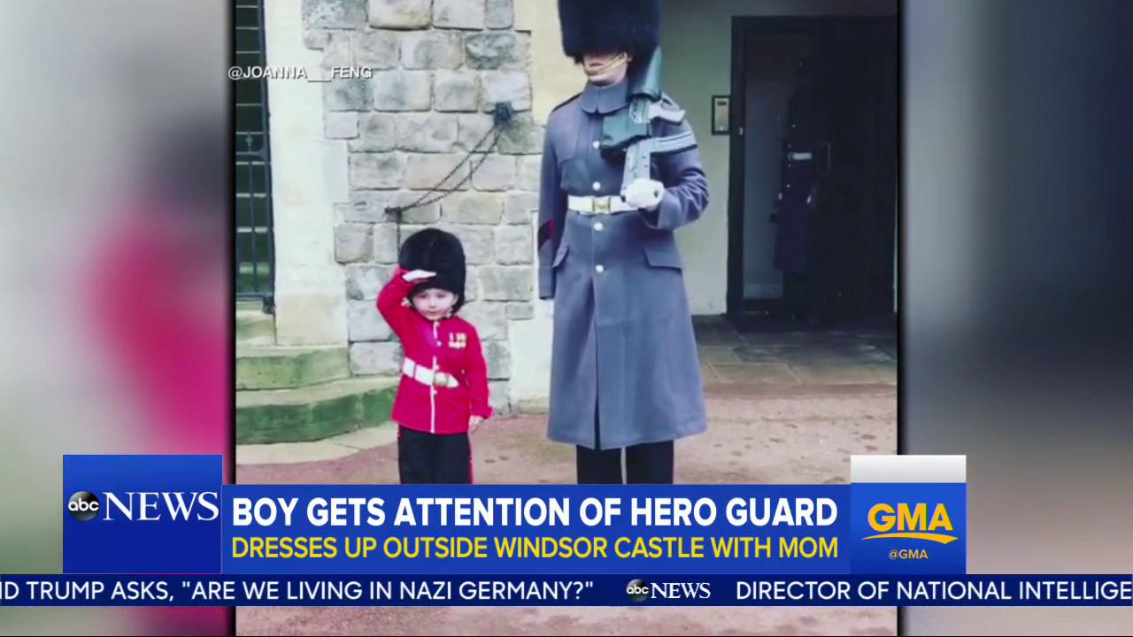 WATCH: Boy gets attention of hero guard; dresses up outside of Windsor Castle and then gets a tour https://t.co/3tZ0NF9IeW