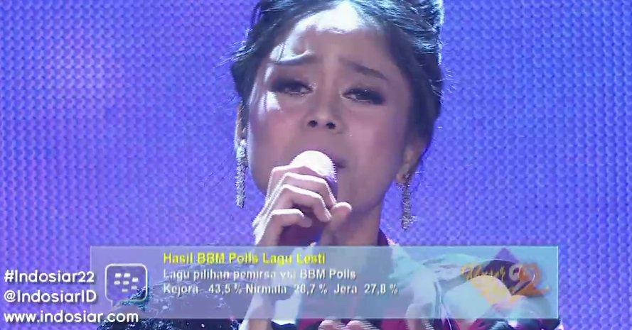RT @IndosiarID: ini dia lagu pilihan pemirsa Indosiar melalui bbm polls, Kejora dari @Lesti_Jenong_DA #Indosiar22 https://t.co/nEKmoopGGB