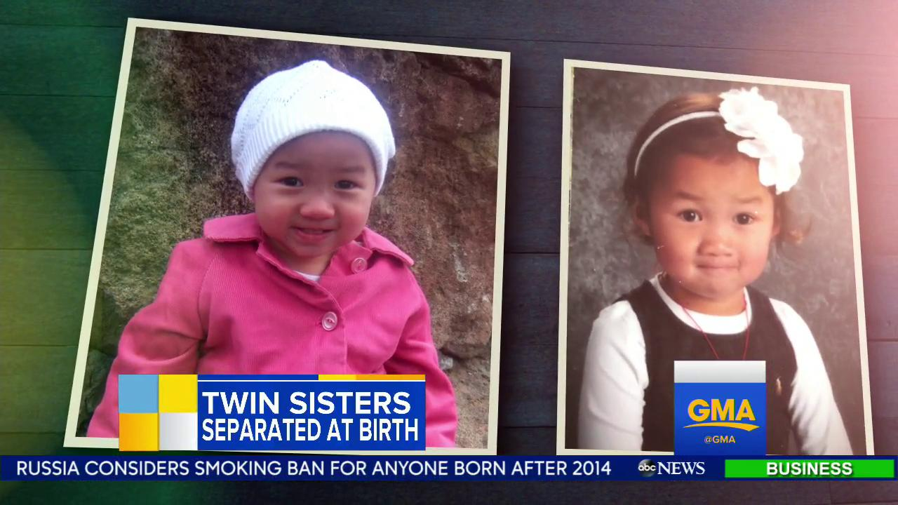 WATCH: The story of two twins, separated at birth and how their families found each other. https://t.co/f7z6mB5Z25