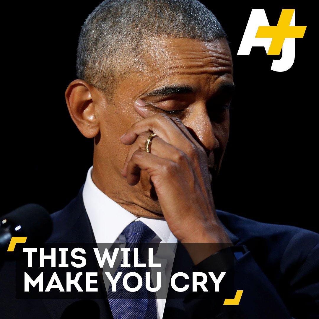 President Obama's farewell speech was a real tearjerker. 😭