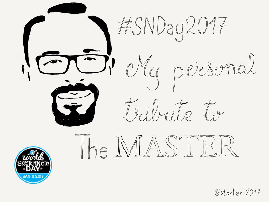 Tribute to Master @rohdesign : thank you Mike for making Sketchnote a thing #SNDay2017  #madewithpaper @FiftyThree https://t.co/KxMocxhAiP