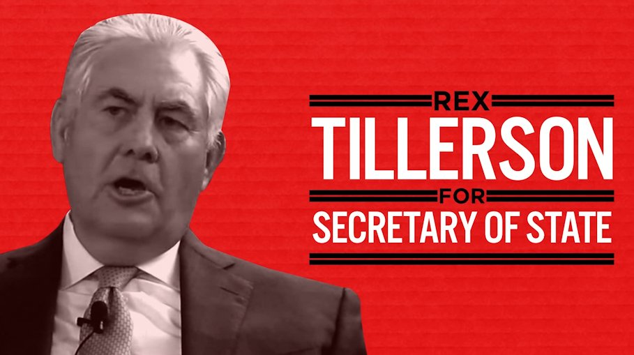 Rex Tillerson's Senate confirmation hearing is underway. He'll put A̶m̶e̶r̶i̶c̶a̶ Russia first. https://t.co/xod7GIRcIw