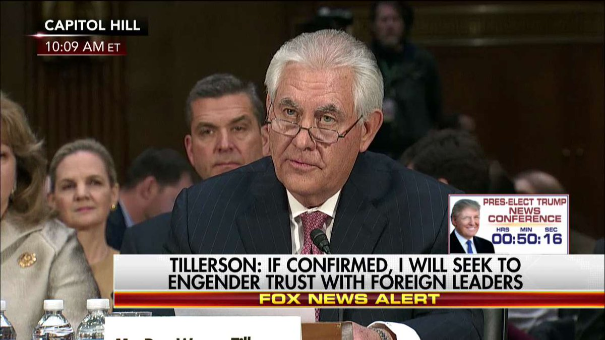 Rex Tillerson: 'We will see the world for what it is. Be honest with ourselves and the American people.'