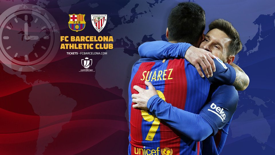 ����⏰ When and where to watch FC Barcelona v Athletic Club: https://t.co/YcK8HrOsUI #CopaFCB https://t.co/IdPr7oAOgr