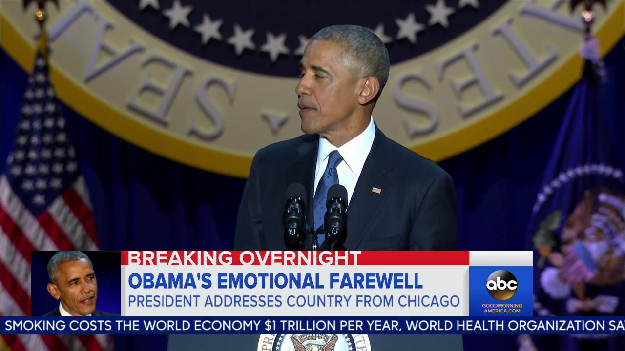 WATCH: President Barack Obama delivers emotional farewell speech: https://t.co/j1GkzvDerz #ObamaFarewell https://t.co/uiMIIPpn6P