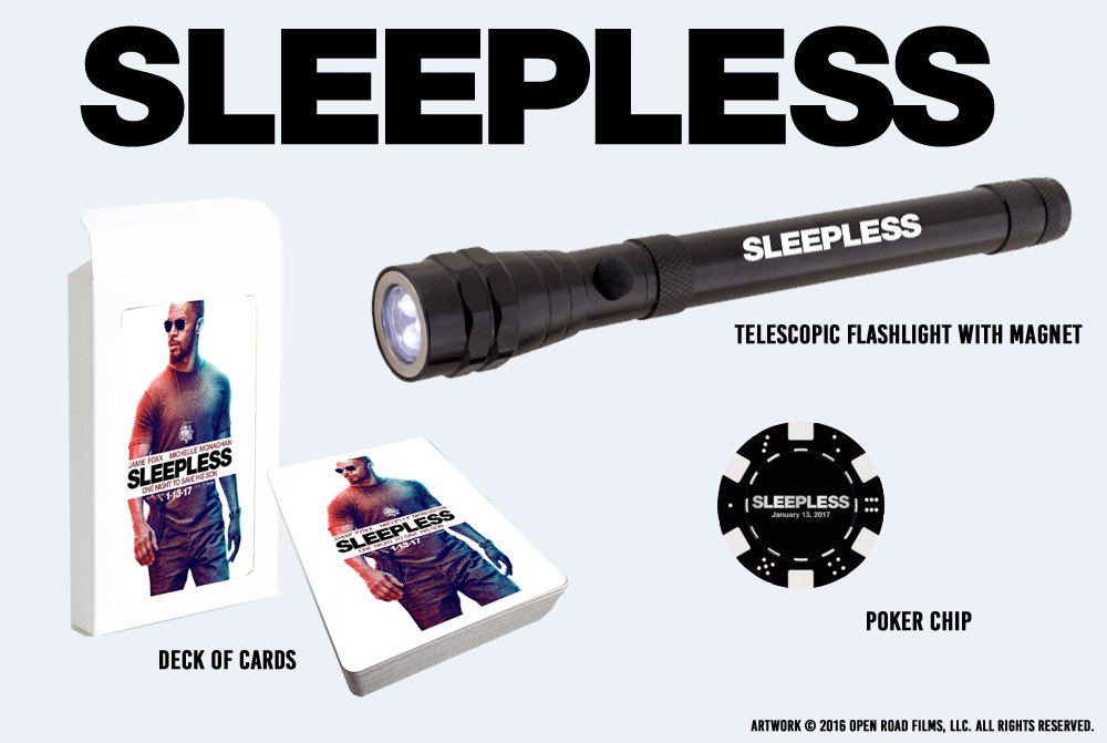 FOLLOW & RT for a chance to win this @SleeplessMovie movie prize pack! Get tickets: https://t.co/u2TACu7qQp https://t.co/nVANtw6rao