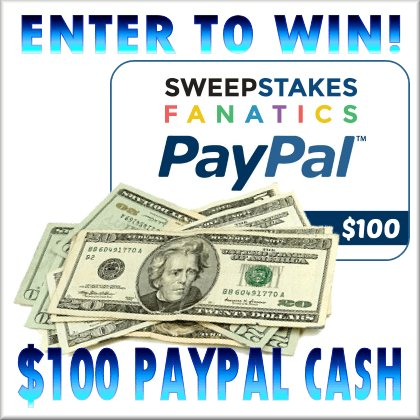 $100 Paypal Sweepstakes Giveaway