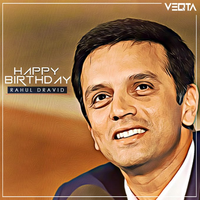 Happy Birthday legend - \The Wall\ Rahul Dravid!