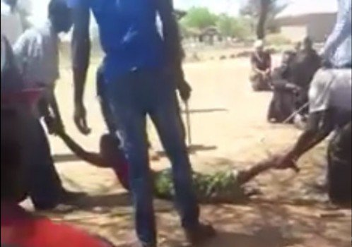 Tanzanian men arrested for brutal public flogging of woman – VIDEO