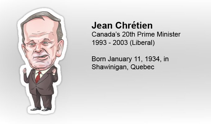 Happy birthday Jean Chrétien: