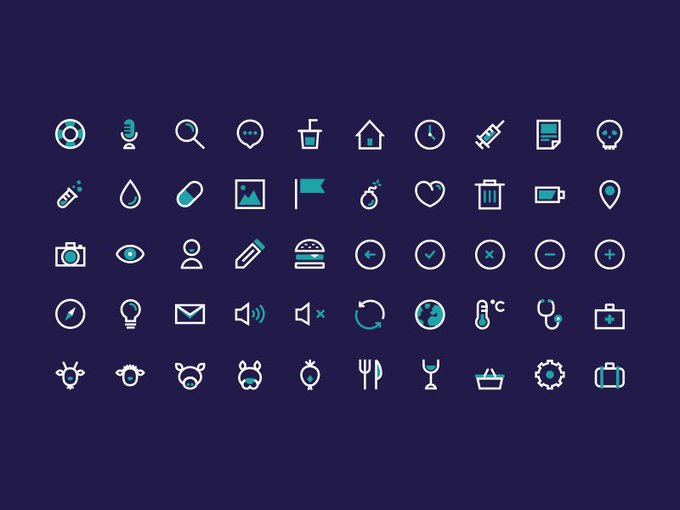 BIG icon set   Icon by Uncoindpixel freebie