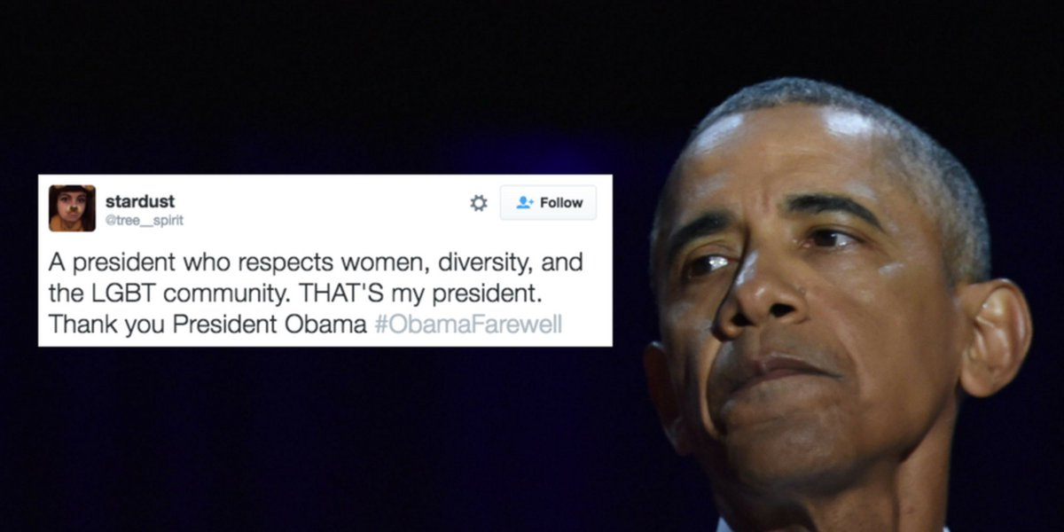 22 emotional reactions from women to President Obama's farewell speech #ObamaFarewell