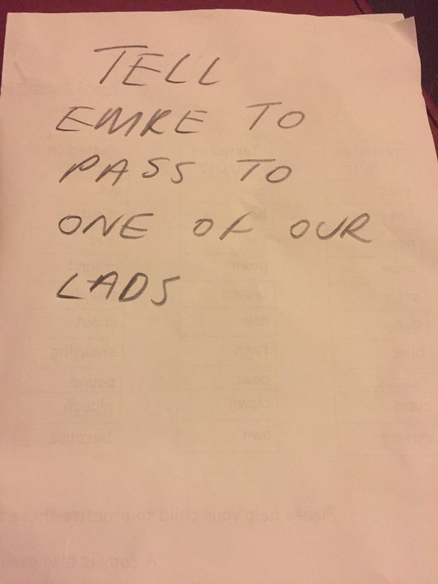 Think this is the note Klopp just gave to Sturridge
