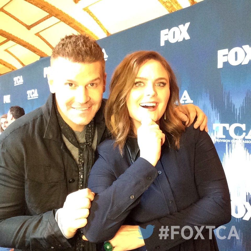 Having fun at #FOXTCA with @David_Boreanaz & @emilydeschanel! #TCA17 #Bones @BONESonFOX