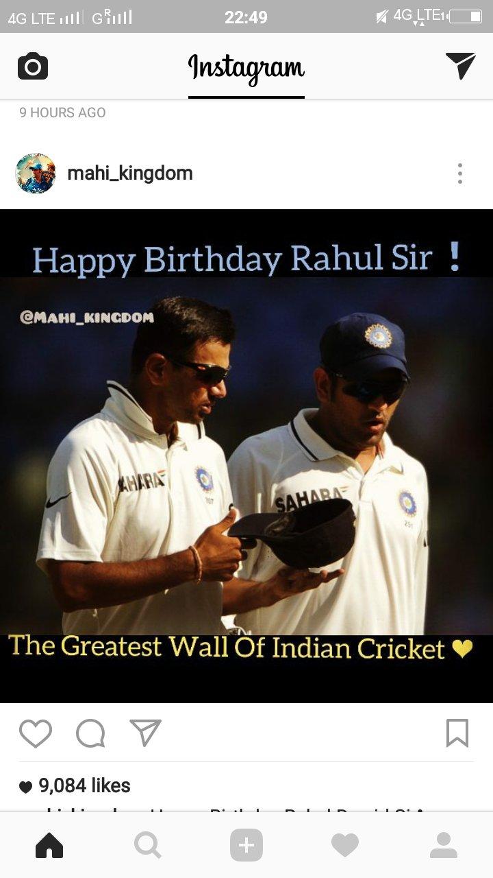 Happy birthday Rahul dravid sir  of India cricket team