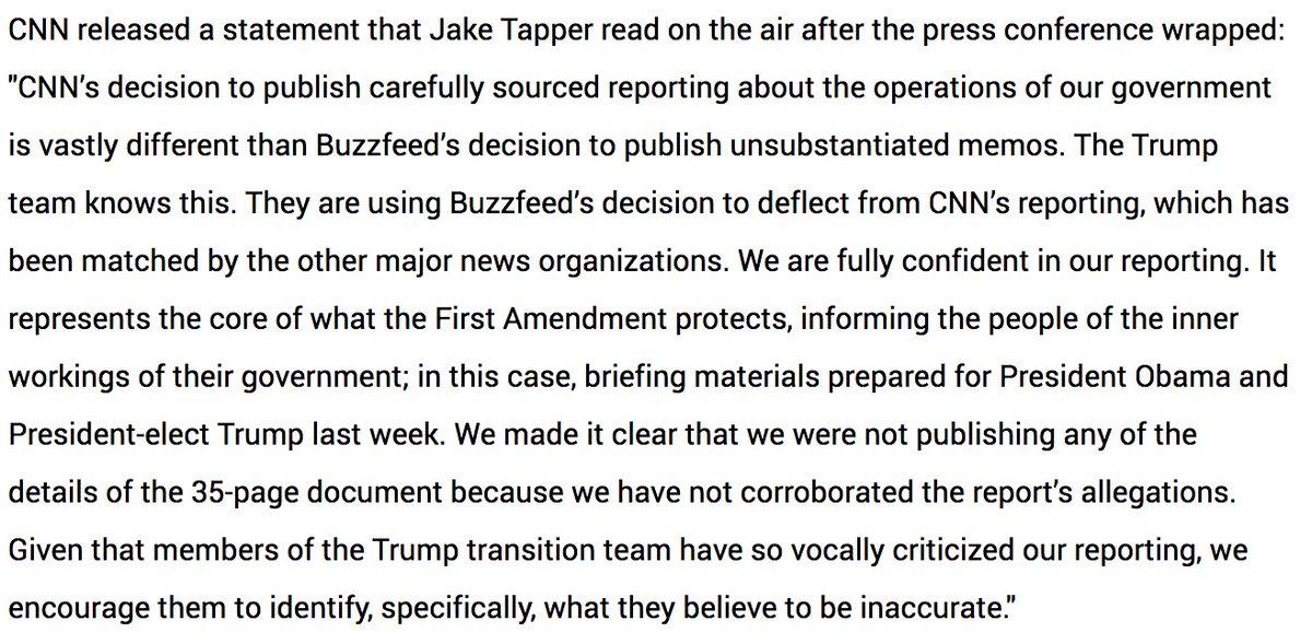 CNN's full statement following Trump's press conference