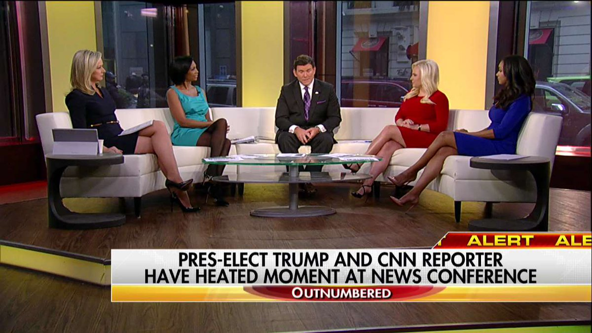 ".@BretBaier on ""You are fake news"" moment ""That's unprecedented."" #Outnumbered"