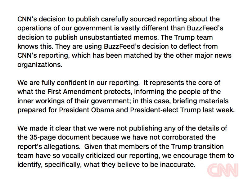 Our response to President-elect Donald Trump's accusations of false reporting https://t.co/AElV6C3VZE https://t.co/D1EztgBP8G