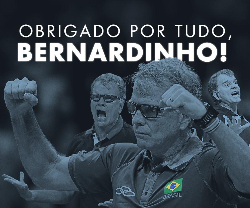 Bernardinho não será mais o técnico da seleção masculina de vôlei para o próximo ciclo olímpico! OBRIGADO POR TUDO!!