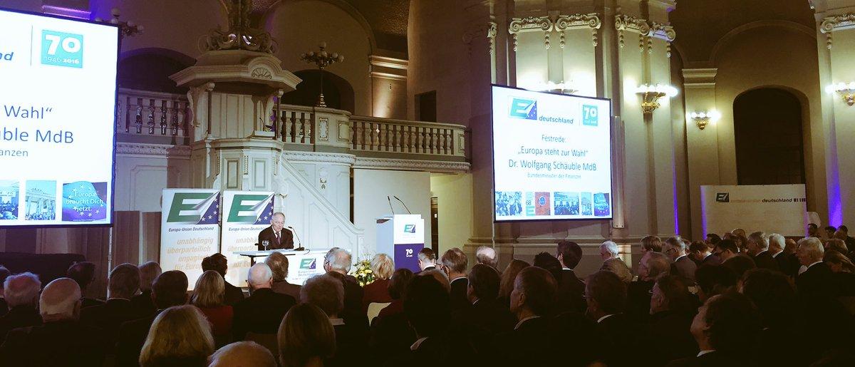 RT @JEF_de: Europe matters! #Schäuble bei #EUD70 @BMF_Bund @EuropaUnionDE https://t.co/ITBdHFlees