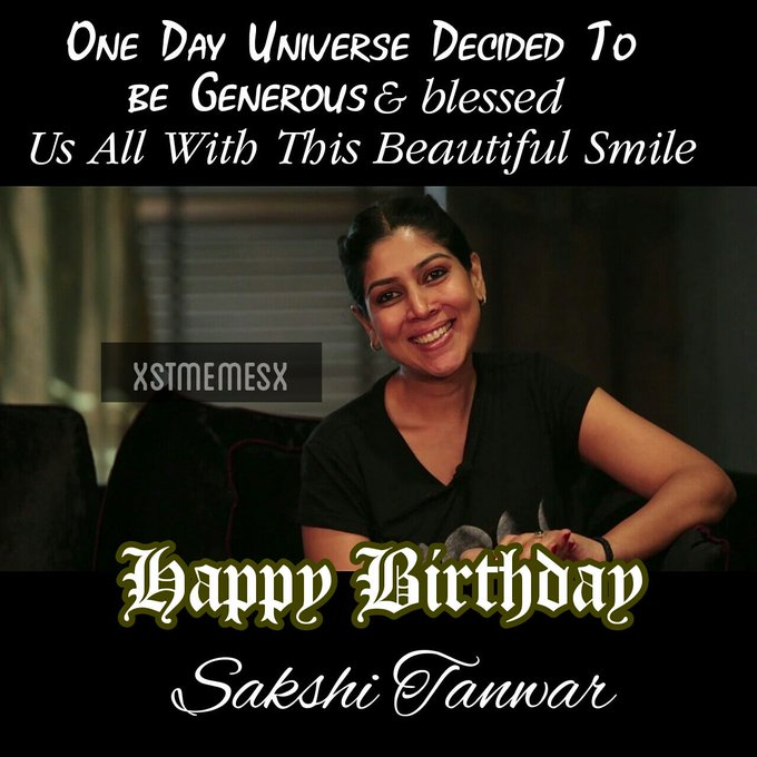 Happy Birthday Sakshi Tanwar & Her precious smile