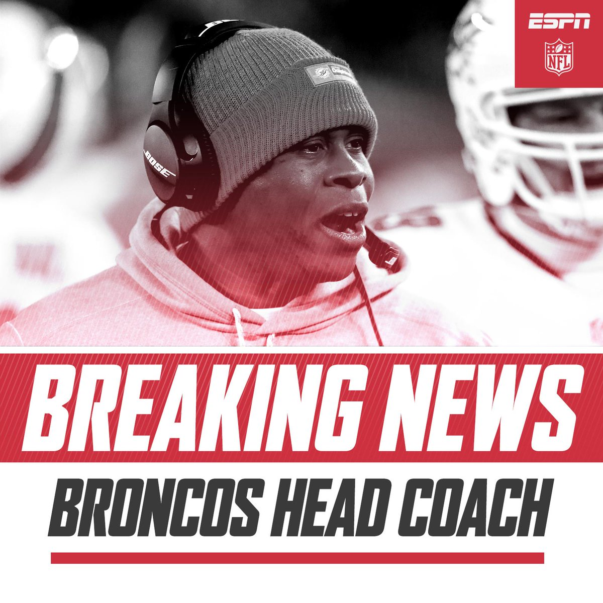 BREAKING Broncos have reached an agreement with Vance Joseph to make him their new head coach. (via @ESPNNFL)