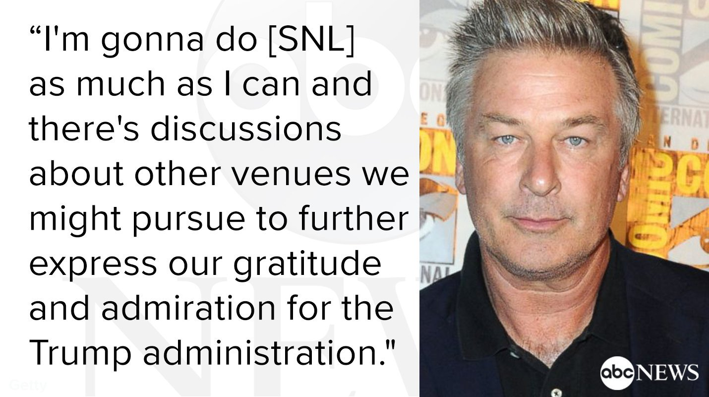 Alec Baldwin says he is 'in discussions about other venues' to play Donald Trump: https://t.co/BIJ6rtCREE https://t.co/WNkvTNcLZB