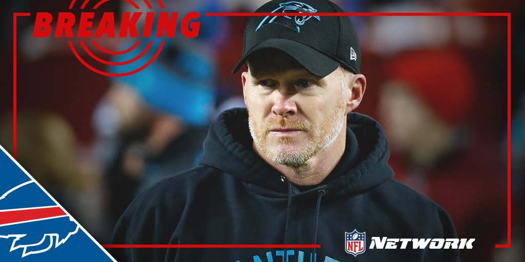 BREAKING Buffalo Bills expected to sign Panthers DC Sean McDermott as head coach.(via @RapSheet)