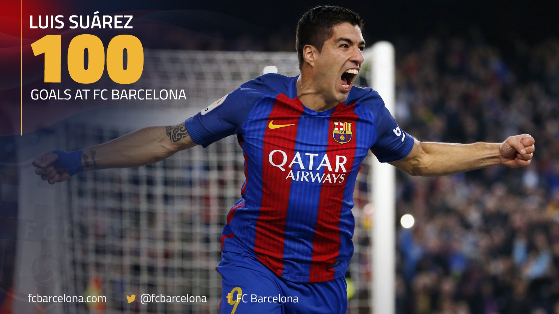 ⚽️ The strike was goal number �� in a Barça shirt for @LuisSuarez9 #FCBLive #CopaFCB https://t.co/VO0hWEcmC2