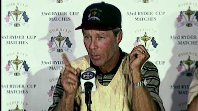A very Happy Birthday to our 1999 Captain, Ben Crenshaw!