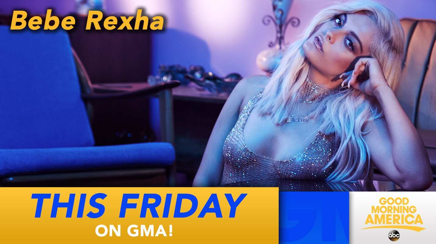 THIS FRIDAY: @BebeRexha performs for us LIVE in Times Square! We can't wait! https://t.co/6Tul60ZvRp