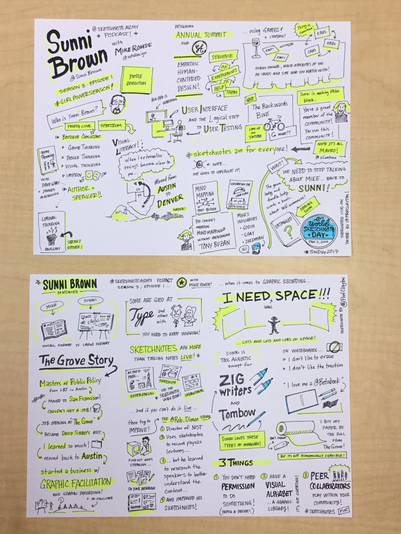 Happy #SNDay2017! Here are the final #sketchnotes from my live session of the @SketchnoteArmy podcast w/ @SunniBrown & @rohdesign! @xLontrax https://t.co/SbV524zGUm