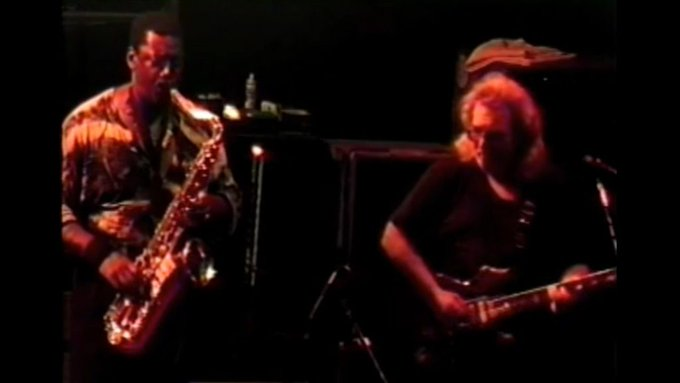 Happy Birthday Clarence Clemons: The Big Man Guests With Jerry Garcia Band In Mansfield  vi
