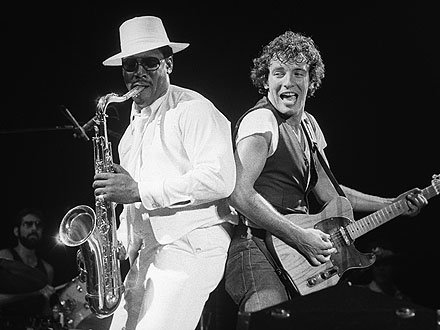 Is it a bird? Is it a plane? No, it\s the Big Man on the saxophone! Happy birthday Clarence Clemons!