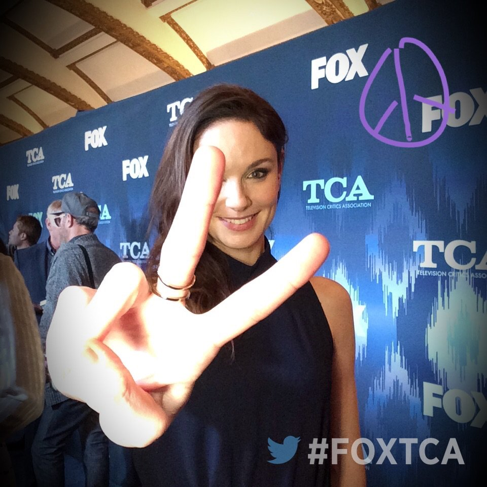 Having fun at #FOXTCA with @PrisonBreak's Sarah Wayne Callies! #PrisonBreak #TCA17