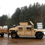 US Army moves 2,500 tanks, trucks and military vehicles into Europe in the biggest troop transfer since the Cold War