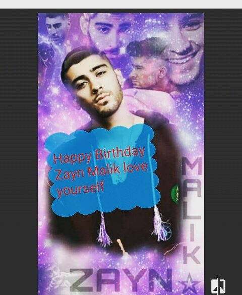 24 years Happy Birthday ZAYN MALIK Love Yourself
