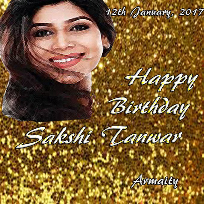 Sir Pls convey. Tks. Happy Birthday Sakshi Tanwar -Keep Rising, Keep Shining & Keep Smiling Always..