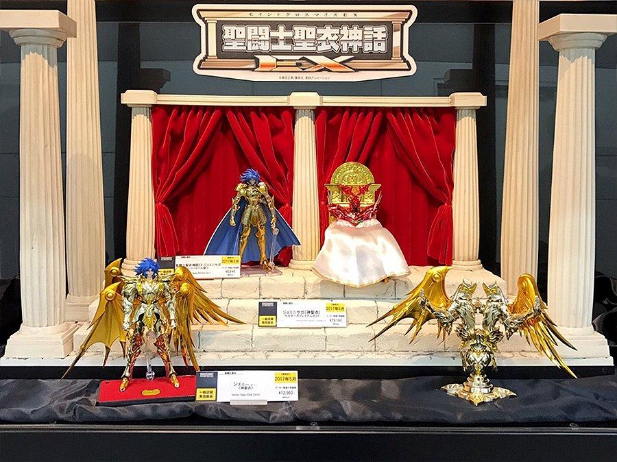 「魂ネイションズ AKIBAショールーム」営業中!本日より「聖闘士星矢特集展示」スタートです!聖闘士聖衣神話やD.D.P