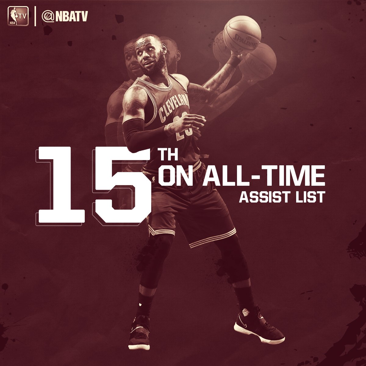 LeBron James passes Tim Hardaway for 15th on the @NBA's all-time assists list. https://t.co/sMrqPMfa6I