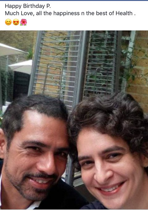 Happy Birthday to Mrs Priyanka Gandhi Vadra. All the happiness and best of health -