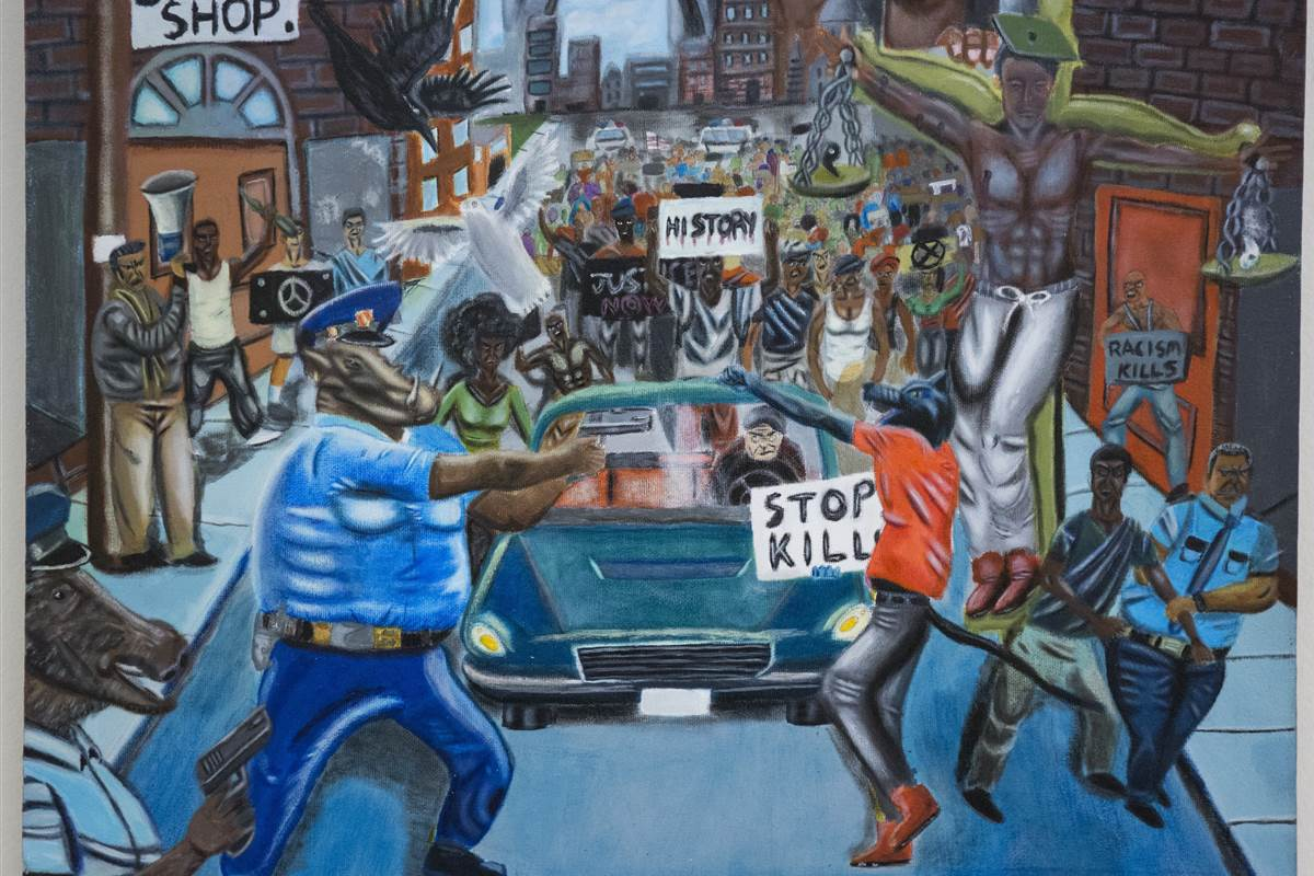 Republican lawmakers keep removing this Ferguson painting https://t.co/RCYa4m3yOl https://t.co/pqz0TAkCFg