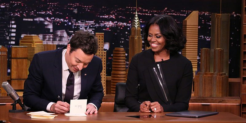 Watch Michelle Obama's final talk show appearance as first lady