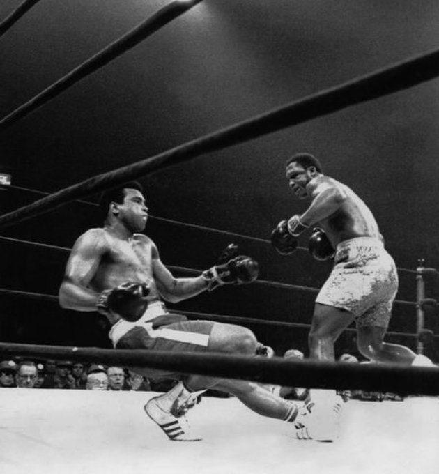 "Happy birthday to the champ ""Smokey\"" Joe Frazier"