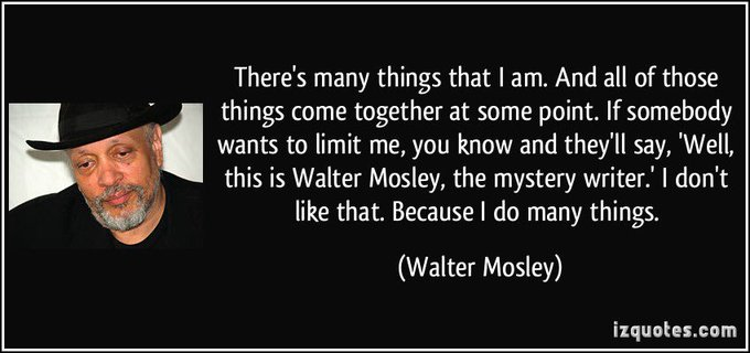 Happy birthday to Walter Mosley!